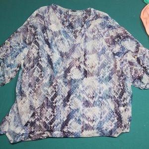 Jennifer Lopez front wrap blouse